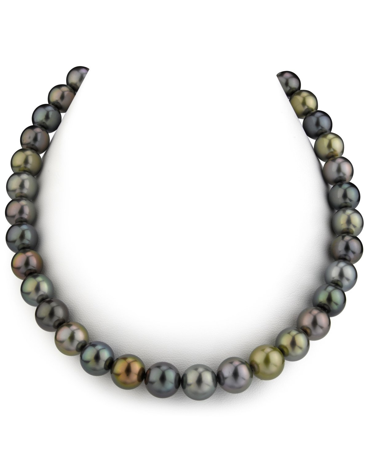 10-11mm Tahitian Multicolor Pearl Necklace - AAAA Quality