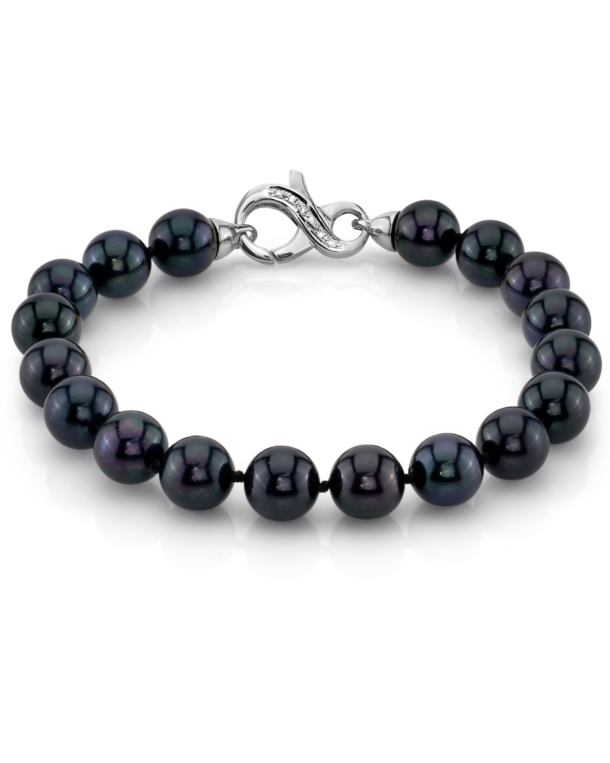 8.0-8.5mm Akoya Black Pearl Bracelet- Choose Your Quality