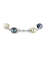 14K White Gold South Sea Pearl Tincup Bracelet