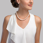 10-11mm White Freshwater Pearl Necklace - Secondary Image