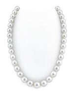 CERTIFIED 10-11mm White South Sea Pearl Necklace - AAAA Quality