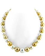 10-12mm South Sea Multicolor Pearl Necklace- AAAA Quality