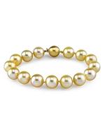 10-11mm Golden South Sea Pearl Bracelet - AAAA Quality