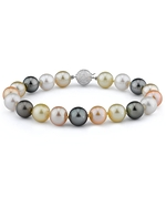 10-11mm South Sea & Freshwater Multicolor Bracelet - AAAA Quality
