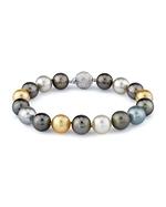 10-11mm Tahitian & Golden South Sea Pearl Bracelet - AAAA Quality