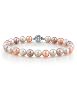10-11mm Multicolor Freshwater Pearl Bracelet - AAAA Quality
