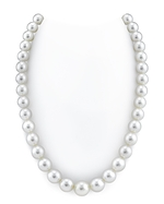 CERTIFIED 10-12mm White South Sea Pearl Necklace - AAAA Quality
