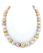 10-12mm Golden & Freshwater Off-Round Pearl Necklace