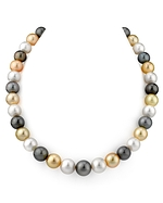 10-12mm SS Multicolor Pearl Necklace- AAAA Quality