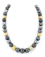 10-13mm South Sea Multicolor Pearl Necklace - AAAA Quality