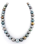 10-13mm Tahitian South Sea Pearl Multicolor Necklace - AAAA Quality