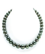 10-11mm Peacock Tahitian South Sea Pearl Necklace - AAAA Quality