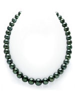 CERTIFIED 10-12mm Tahitian South Sea Pearl Necklace - AAAA Quality