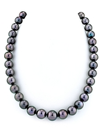 10-12mm Eggplant Tahitian South Sea Pearl Necklace - AAAA Quality