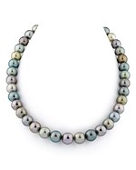 10-13mm Tahitian Pastel Multicolor Pearl Necklace - AAAA Quality