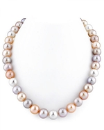 11-12mm Freshwater Multicolor Pearl Necklace - AAAA Quality