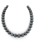 CERTIFIED 11-13mm Tahitian South Sea Pearl Necklace - AAAA Quality