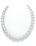 CERTIFIED 11-13mm White South Sea Pearl Necklace