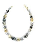 11-13mm South Sea Pearl Multicolor Baroque Necklace
