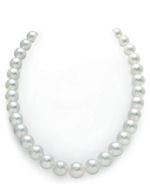 CERTIFIED 11-14mm White South Sea Pearl Necklace