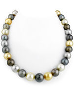 11-14mm Nancy Pelosi Tahitian & Golden South Sea Multicolor Pearl Necklace
