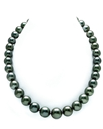 11-14mm Dark Tahitian Pearl Necklace-AAAA Quality