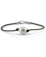 South Sea Baroque Pearl Leather Bracelet- Various Sizes