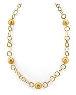 11mm Golden Pearl Designer Necklace