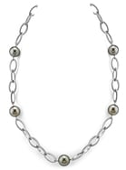 11-12mm Tahitian South Sea Pearl Designer Necklace