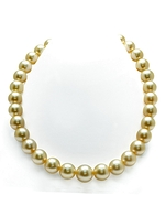 12-13mm Golden South Sea Pearl Necklace-AAAA Quality