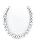 CERTIFIED 12-15mm White South Sea Pearl Necklace - AAAA Quality