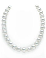 CERTIFIED 12-14mm White South Sea Pearl Necklace