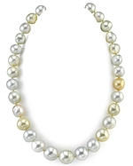 12-14.5mm South Sea Multicolor Baroque Pearl Necklace
