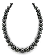 CERTIFIED 12-14mm Tahitian South Sea Pearl Necklace - AAAA Quality