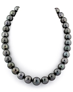 CERTIFIED 11-14mm Tahitian South Sea Pearl Necklace - AAAA Quality