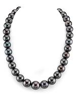 CERTIFIED 12-15.5mm Tahitian South Sea Pearl Necklace - AAAA Quality