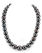 CERTIFIED 12-15mm Tahitian South Sea Pearl Necklace - AAAA Quality