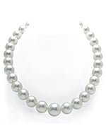 CERTIFIED 12-15mm White South Sea Pearl Necklace