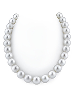 CERTIFIED 13-15mm White South Sea Pearl Necklace - AAAA Quality