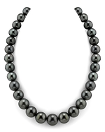 CERTIFIED 13-15mm Tahitian South Sea Pearl Necklace - AAAA Quality