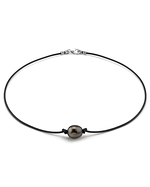 Tahitian Baroque Pearl Leather Necklace- Various Sizes
