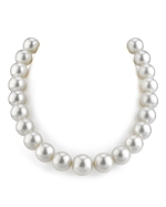 CERTIFIED 14-16mm White South Sea Pearl Necklace - AAAA Quality