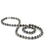 10-12mm Opera Length Tahitian South Sea Baroque Pearl Necklace