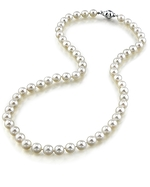 6.0-6.5mm Akoya White Pearl Necklace Lengthening-AAA+
