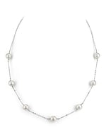Japanese Akoya Pearl Tincup Necklace-Various Sizes