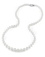 6.0-9.0mm Japanese Akoya White Pearl Necklace - AA+ Quality