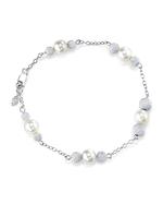 Japanese Akoya White Pearl Tincup Tara Bracelet
