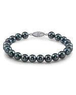 7.0-7.5mm Akoya Black Pearl Bracelet- Choose Your Quality