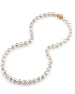 7.5-8.0mm Hanadama Akoya White Pearl Necklace - Secondary Image