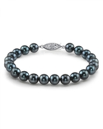 7.5-8.0mm Akoya Black Pearl Bracelet- Choose Your Quality